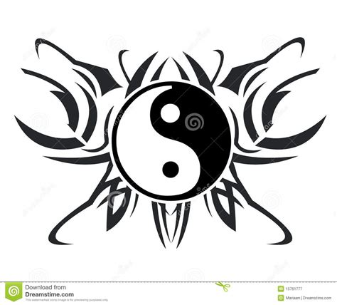 yin and yang tribal tattoos yin yang images designs