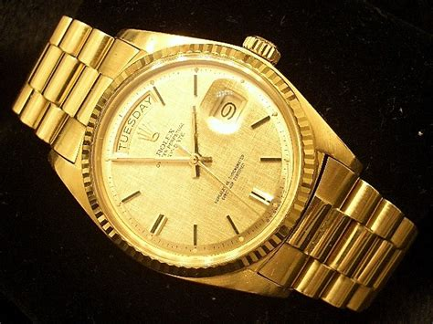 mens rolex 18k gold day date president automatic ebay