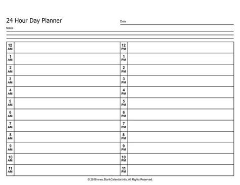 free printable hourly planner pages 24 hour daily planner printable planning my day