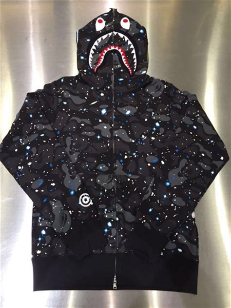 Bape Space Camo Shark Zip Hoodie bape s a bathing ape space camo shark hoodie zip