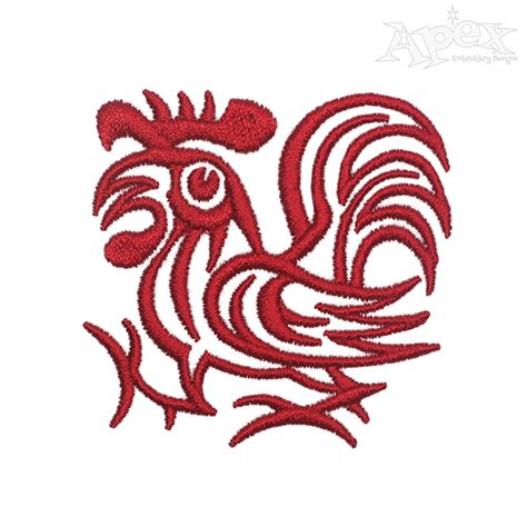 embroidery design rooster morning rooster embroidery design