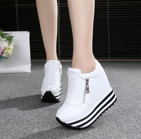 Sandal Wanita Ir 12 Wedges 3cm 2017 shoes wedges high heels 10cm lace up white casual shoes s