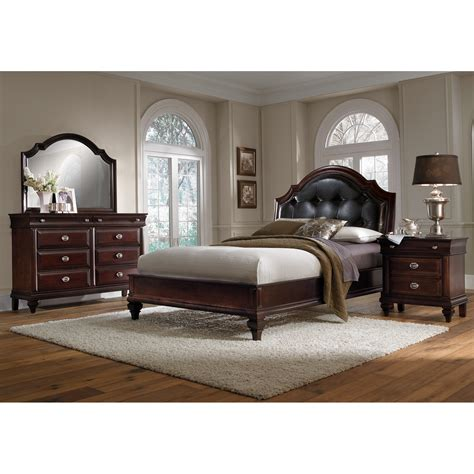 american signature bedroom sets manhattan 6 piece queen bedroom set cherry american