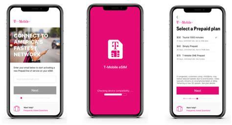 mobile launches esim app  iphone xr iphone xs
