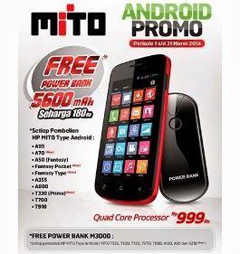 Power Bank Mito promo android mito gratis power bank maret 2014