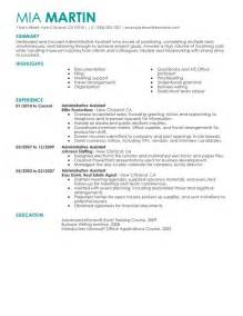 administrative assistant resume sle my resume