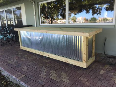 Backyard Metal by The Pong 12 Corrugated Metal Rustic Outdoor Patio