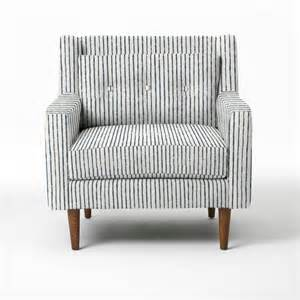 crosby armchair painted stripe regal blue modern