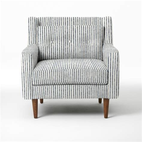 armchair striped crosby armchair painted stripe regal blue modern