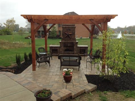 davenport project pergola fireplace kitchen in