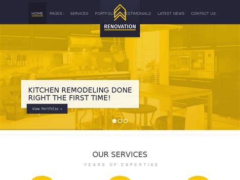 renovation websites renovation construction company theme best web design
