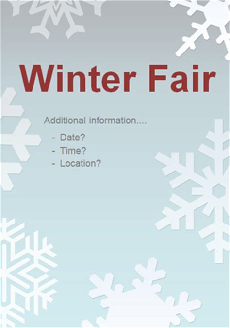 editable winter fair poster   early years primary teaching resources eyfs ks