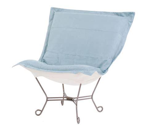 scroll puff chair on sale