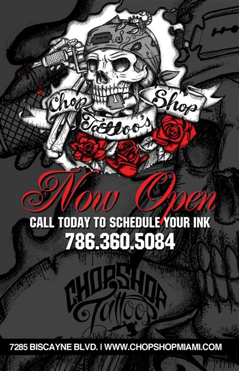 tattoo shops open today marketing in miami chop shop miami now open