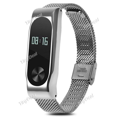 Watchband Xiaomi Mi Band 2 Stainless Steel Oem Hitam 8 55 replacement stainless steel metal wrist band for xiaomi miband 2 e 516617