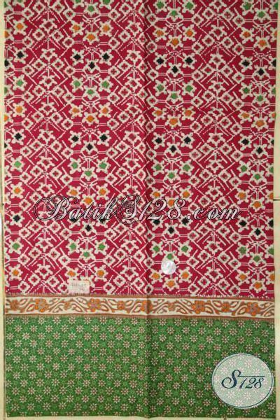 Jaket Ny Kombinasi Tiga Warna kain batik tiga motif kombinasi warna merah dan hijau