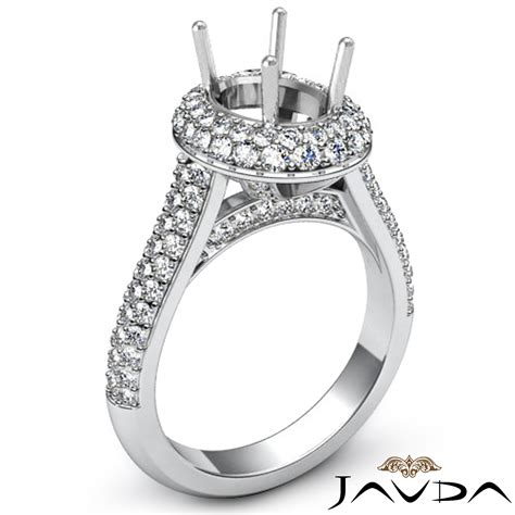 engagement ring halo pave set vs1 vs2 platinum engagement ring halo pave 1 5c vs1 vs2 platinum 950 oval semi mount ebay