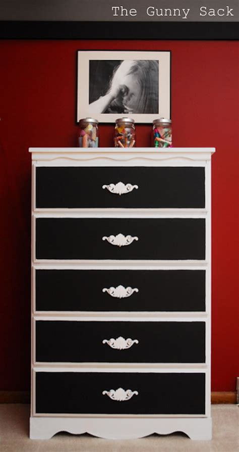 black and white dresser 20 budget friendly diy chalk paint furniture ideas noted