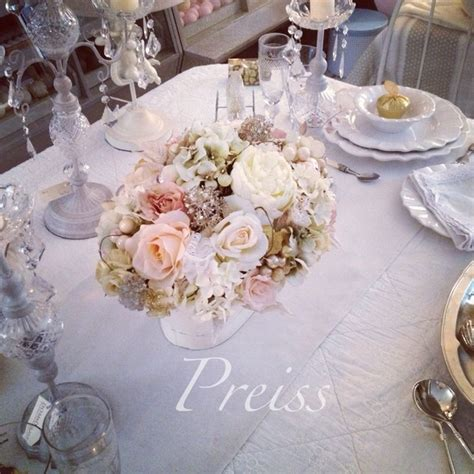 shabby chic flower arrangements centrepiece for your table
