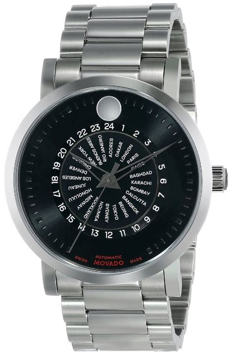 movado s 0606698 label automatic stainless steel