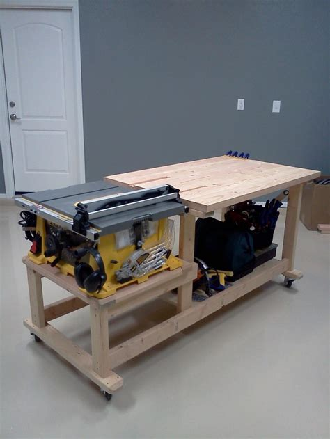table saw work bench plans diy free download luggage rack