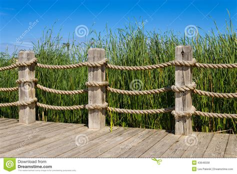 rope banisters rope bannister stock photo image 43646558