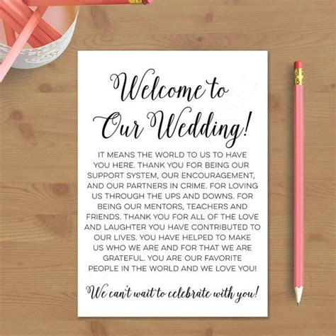wedding welcome note template 25 best ideas about wedding welcome letters on welcome letters welcome bags and