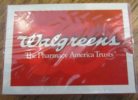 Walgreens Pharmacy Gift Card - deck of playing cards sealed nip new walgreens pharmacy america trusts ebay