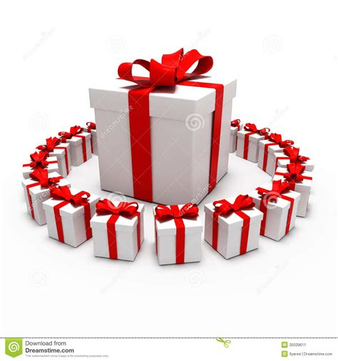 presents for great gift surrounded by small gifts stock illustration image 35039611