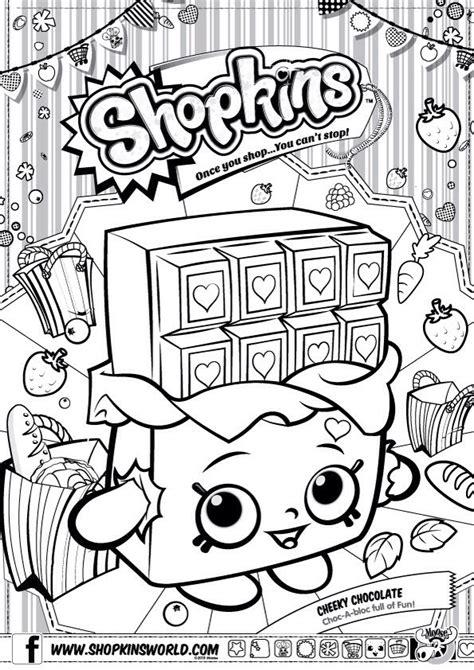 shopkins chocolate coloring page shopkins colour color page cheeky chocolate shopkinsworld