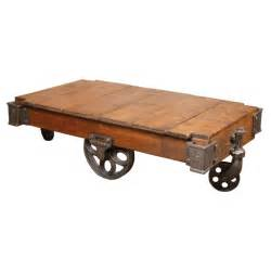 Coffee Table Industrial Cart Original Vintage Industrial Coffee Table Or Cart At 1stdibs