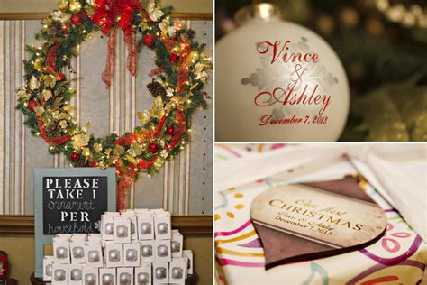 merry bright christmas wedding vince ashley  pink bride