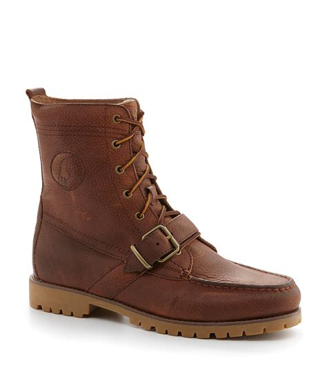 polo boots for polo ralph ranger leather buckle boots dillards