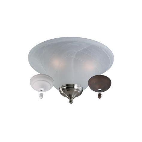 Monte Carlo Ceiling Fan Light Kits Monte Carlo 3 Light White Faux Alabaster Bowl Ceiling Fan Light Kit Mc04 L The Home Depot