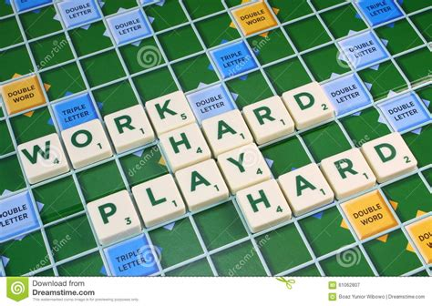 difficult scrabble words scrabble work play stock image image 61062807