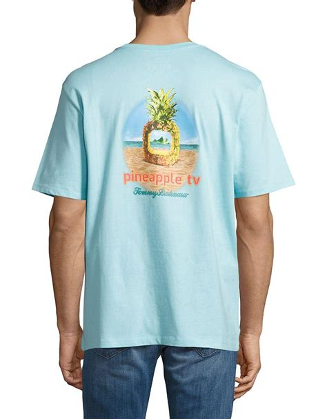 tommy bahama pineapple l lyst tommy bahama pineapple tv printed cotton tee in