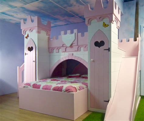 castle bunk beds for girls furniture wonderful castle bed with slide for kids