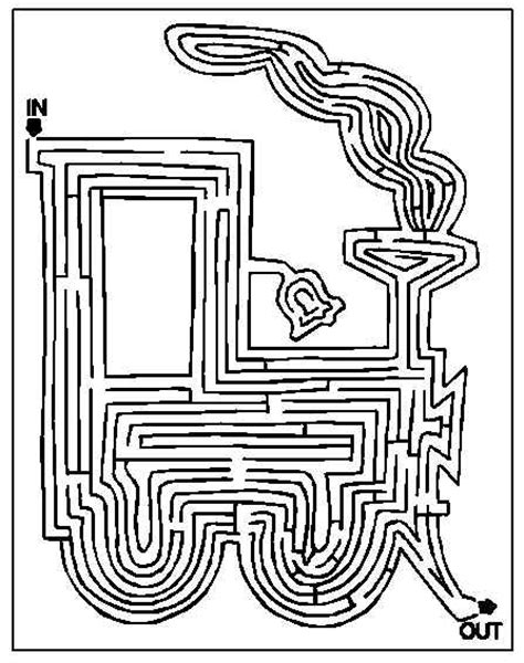 printable train maze kids fun and games mazes puzzles