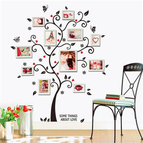 home decor wall posters tree photo frame diy 3d vinyl wall stickers home decor