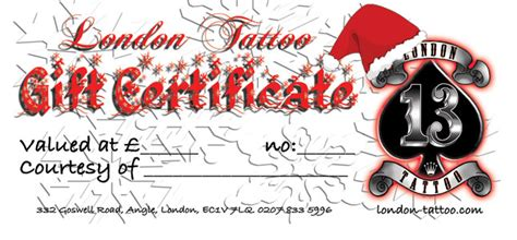 tattoo removal voucher london london tattoo gift voucher s ready for xmas