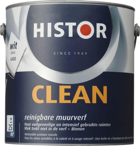 histor 6400 mat bol histor clean muurverf 2 5 liter wit