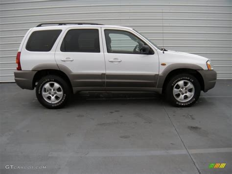 classic white 2003 mazda tribute lx v6 exterior photo