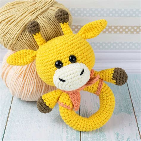 crochet pattern jpg giraffe baby rattle crochet pattern amigurumi today