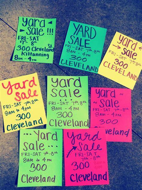 yard sale signs yard sale ideas