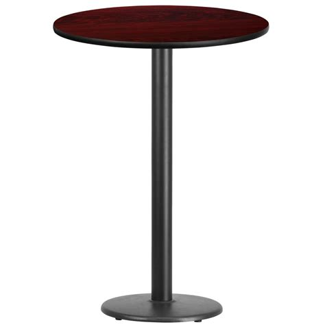 round bar top table flash furniture 30 square walnut laminate table top with