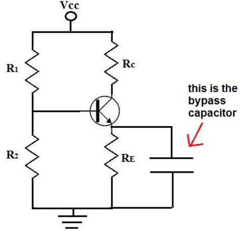use capacitor in transistor lifier circuit what is a bypass capacitor one by zero electronics