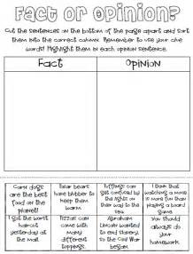 fact and opinion worksheets for 3rd graders 1000 images