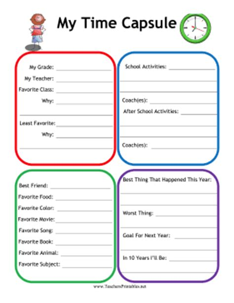 Weekly Lesson Plan Template Elementary