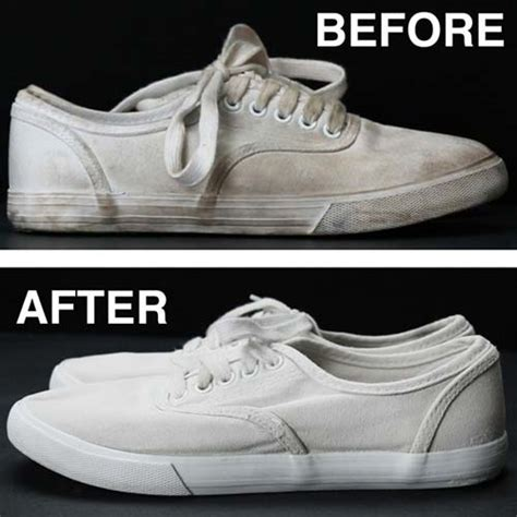 finally an easy way to clean white shoes and make them