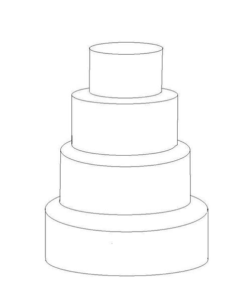 Wedding Cake Template by 4 Tier Cake Template Cakes Tier Cake Cake